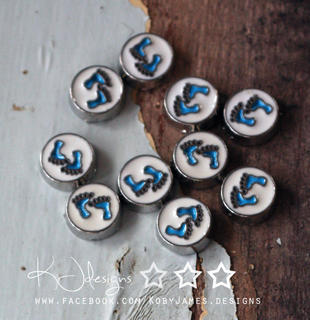 Blue Footprint Charm