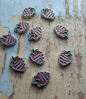 Chocolate Strawberry Charm