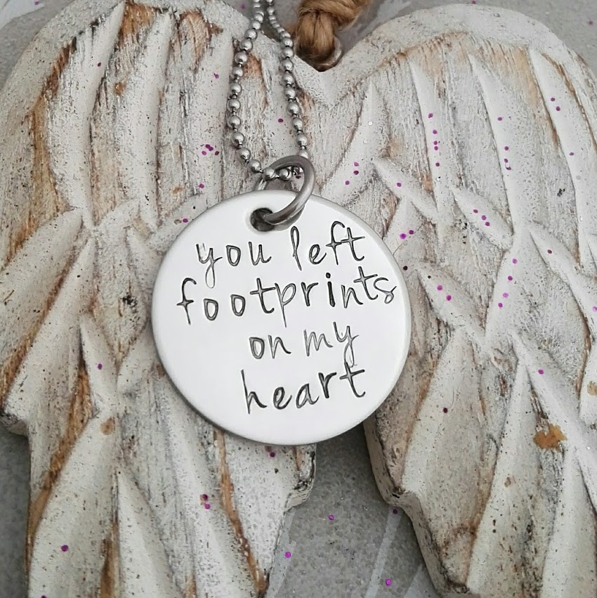 Footprints on my Heart Pendant