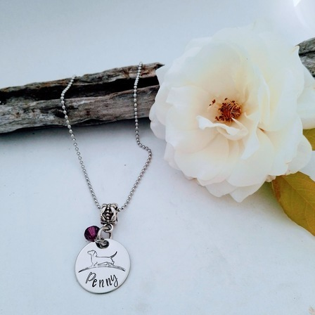 Girls Pendant with Birthstone